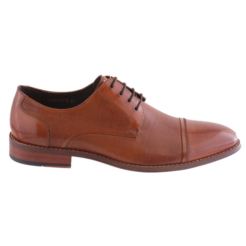 mens tan laced shoe leather