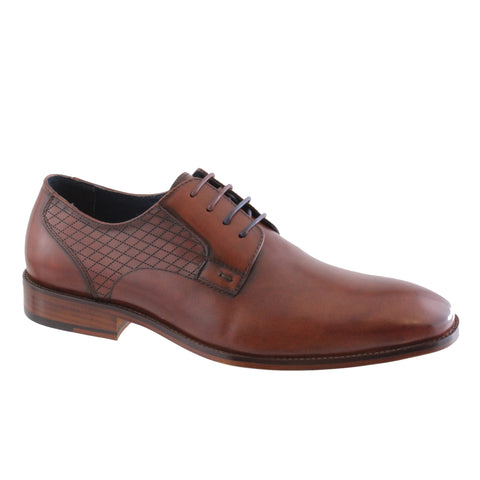 mens brown dressy leather shoe