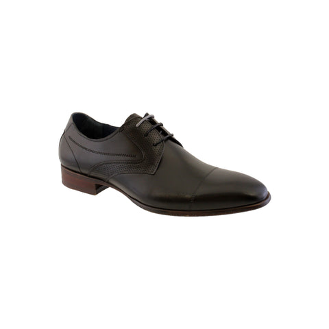 morgan & co black toe cap dressy shoe