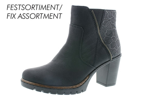 Rieker ladies black ankle boot