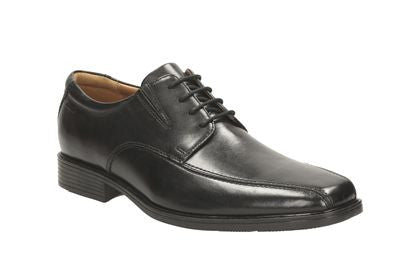 Clarks tilden walk black leather men's lace up shoe