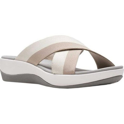 Clarks Arla Elin Sand/Off White Striped Was €50 now €40