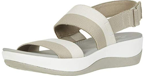 Clarks Arla Jacory Sand/Off White Striped Was €50 now €35