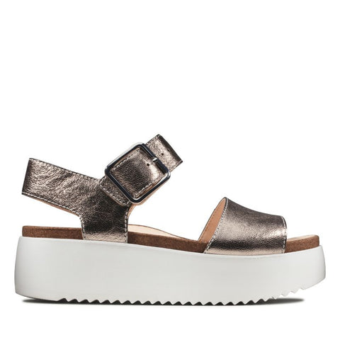 Clarks Botanic Strap Stone Metallic Was €80 now €64
