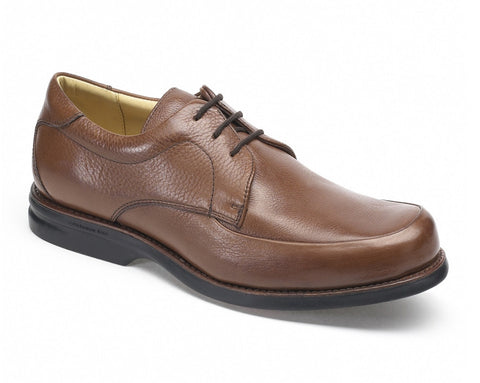 brown leather lace men's shoe