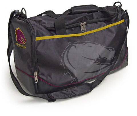 Brisbane Broncos Travel Training Shoulder Sports Bag - Spectator Sports Online