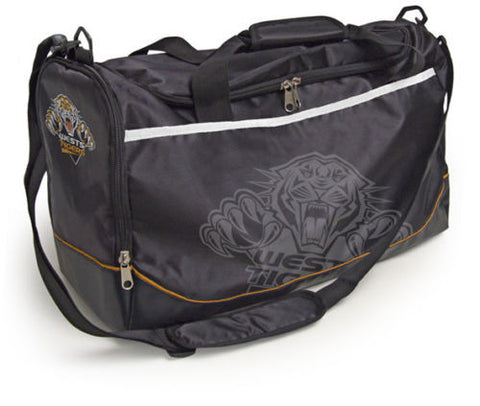 Wests Tigers Travel Training Shoulder Sports Bag - Spectator Sports Online