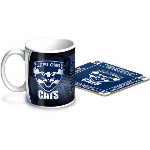 Geelong Cats Mug & Coaster Gift Pack - Spectator Sports Online
