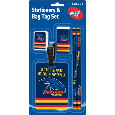 Adelaide Crows Stationery & Bag Tag Set - Spectator Sports Online