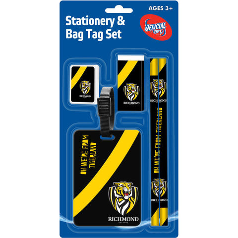 Richmond Tigers Stationery & Bag Tag Set - Spectator Sports Online
