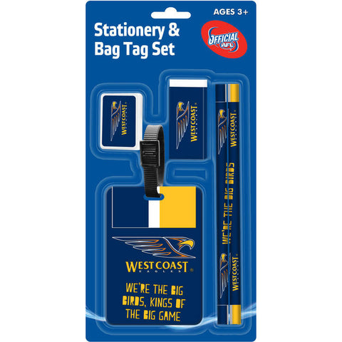 West Coast Eagles Stationery & Bag Tag Set - Spectator Sports Online