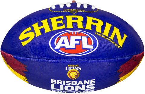 Brisbane Lions Sherrin Team Song Football