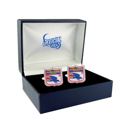 Adelaide Crows Heritage Retro Shield Mens Cufflinks - Spectator Sports Online