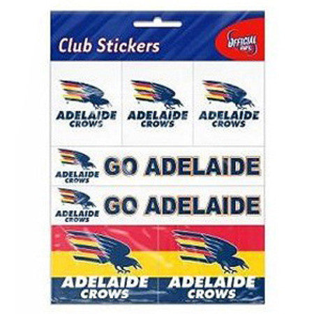 Adelaide Crows Club Stickers - Spectator Sports Online