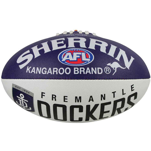 Fremantle Dockers Sherrin Synthetic Football size 5