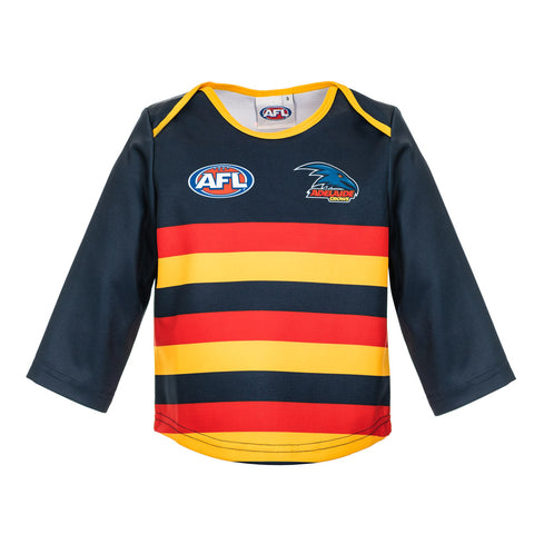 Adelaide Crows Longsleeve Baby Toddlers Footy Jumper Guernsey