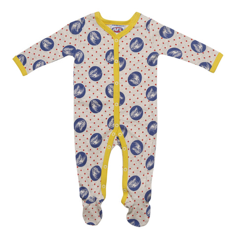 Adelaide Crows Babies Toddlers Coverall Romper Onesie