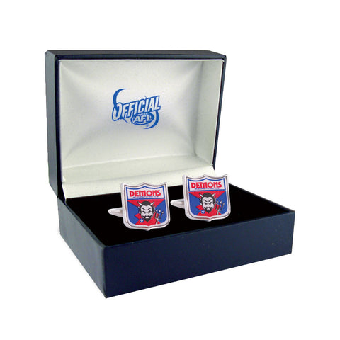 Melbourne Demons Heritage Retro Shield Mens Cufflinks - Spectator Sports Online