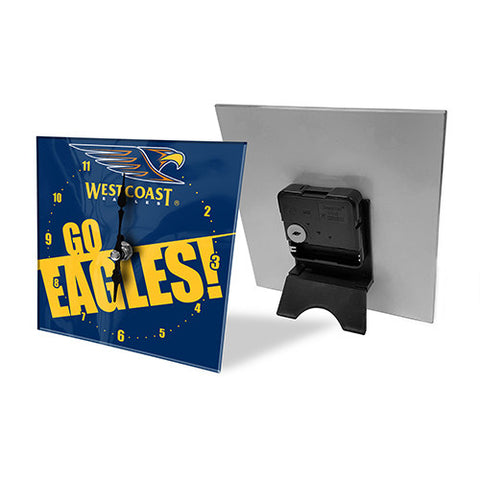 West Coast Eagles Mini Glass Clock - Spectator Sports Online