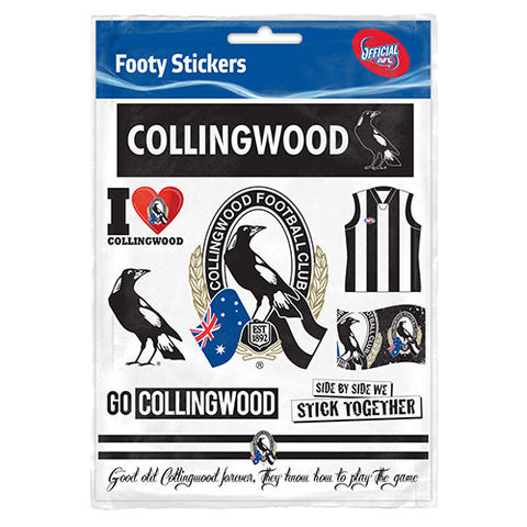 Collingwood Magpies Club Stickers - Spectator Sports Online