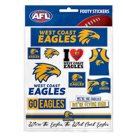 West Coast Eagles Club Stickers