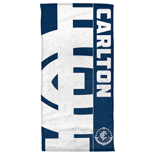 Gym Towel Adelaide: Carlton Blues Beach Bath Towel