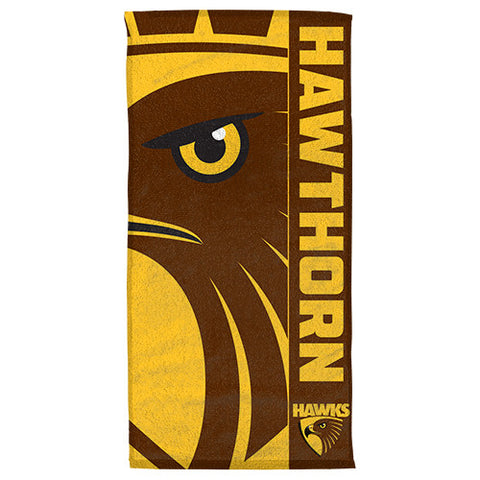 Hawthorn Hawks Beach Bath Towel - Spectator Sports Online