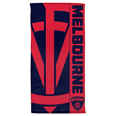 Melbourne Demons Beach Bath Towel - Spectator Sports Online