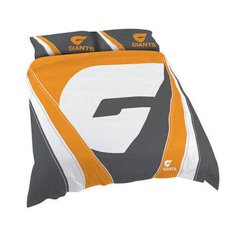 GWS Giants Doona Duvet Cover Pillow Case Set - Spectator Sports Online
