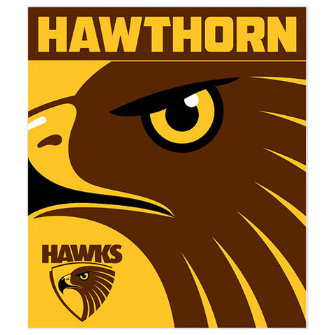 Hawthorn Hawks Polar Fleece Throw Rug Blanket