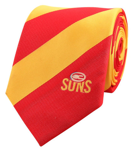 Gold Coast Suns Stripe Tie - Spectator Sports Online