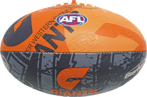 Greater Western Sydney GWS Giants Collegiate Size 2 Synthetic Football - Spectator Sports Online - 1