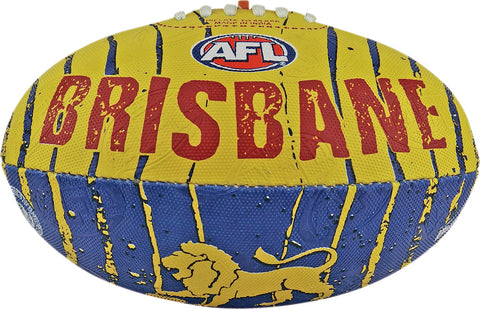 Brisbane Lions Stinger Size 2 Synthetic Football