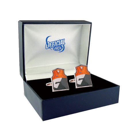 Greater Western Sydmey GWS Giants Guernsey Cufflinks - Spectator Sports Online