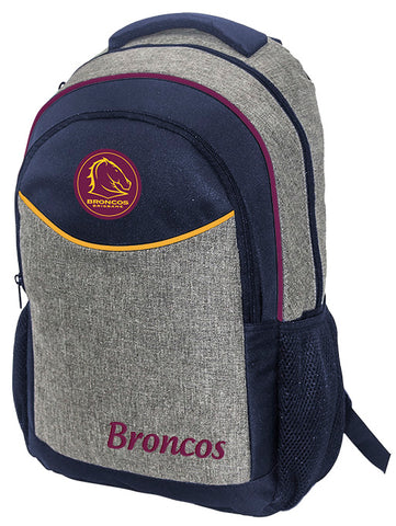 Brisbane Broncos NRL Stealth School Backpack Bag