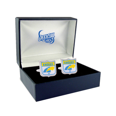 West Coast Eagles Heritage Retro Shield Mens Cufflinks - Spectator Sports Online