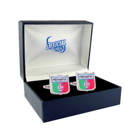 Fremantle Dockers Heritage Retro Shield Mens Cufflinks - Spectator Sports Online