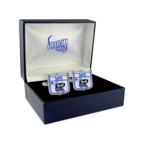 Geelong Cats Heritage Retro Shield Mens Cufflinks - Spectator Sports Online
