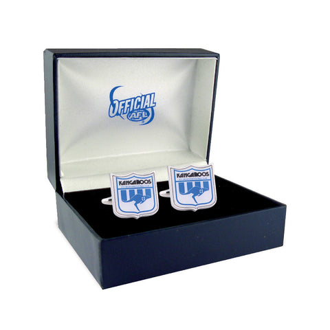 North Melbourne Kangaroos Heritage Retro Shield Mens Cufflinks - Spectator Sports Online