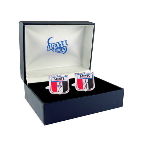 St Kilda Saints Heritage Retro Shield Mens Cufflinks - Spectator Sports Online