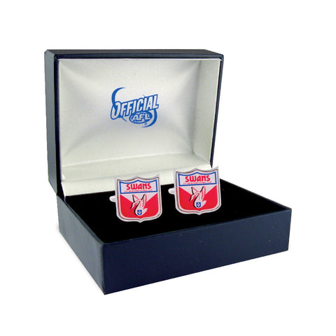 Sydney Swans Heritage Retro Shield Mens Cufflinks - Spectator Sports Online