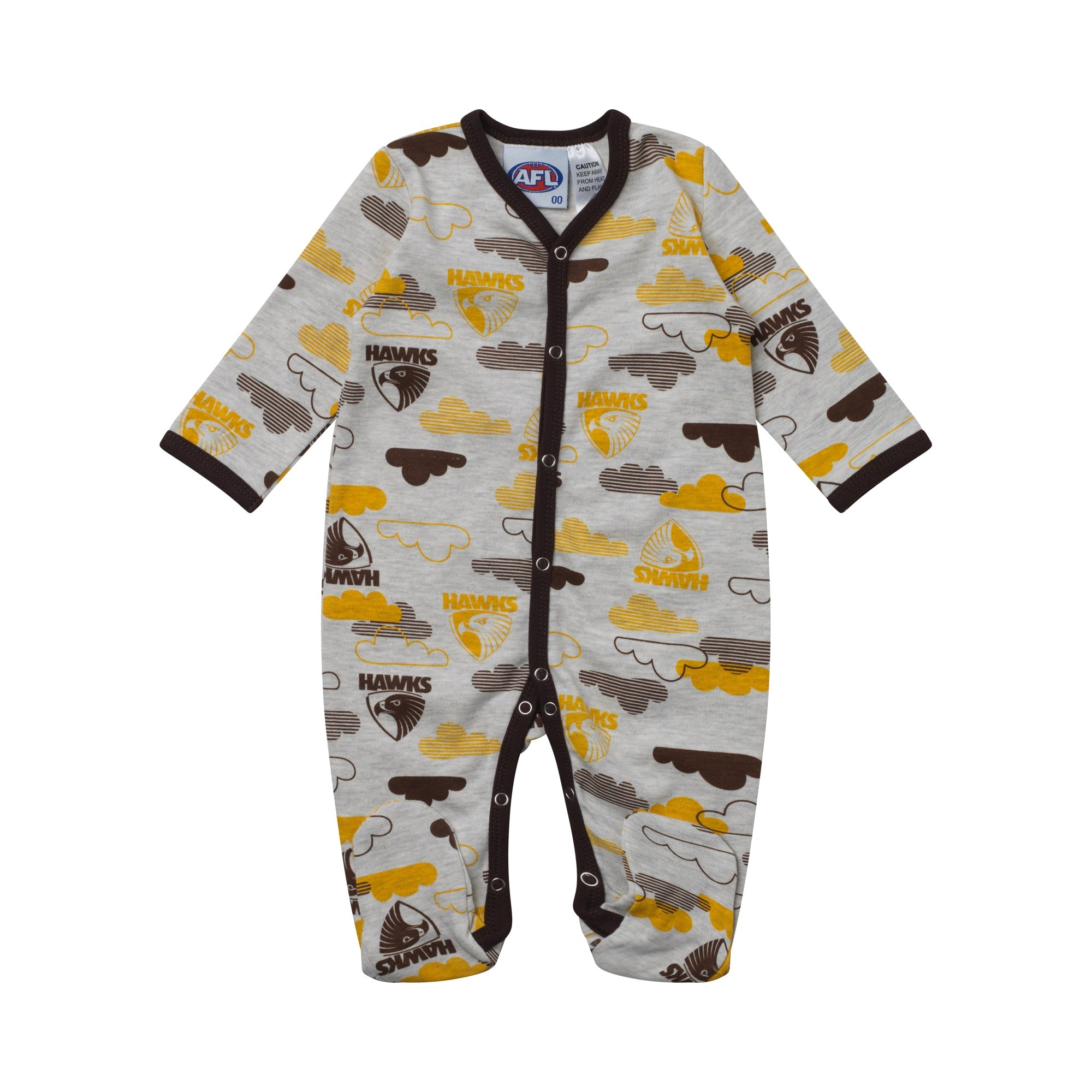 f5ad06241c25 Hawthorn Hawks Babies Infants Coverall Romper Onesie