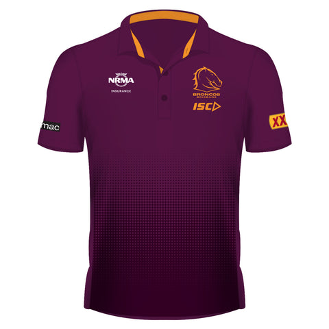 Brisbane Broncos ISC Mens Sublimated Media Polo