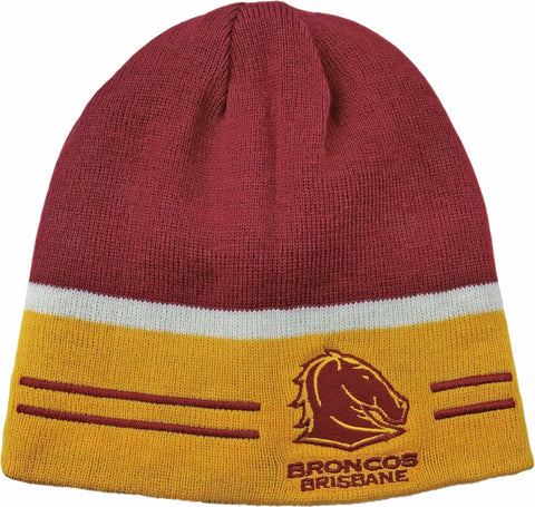 Brisbane Broncos NRL Switch Reversible Beanie