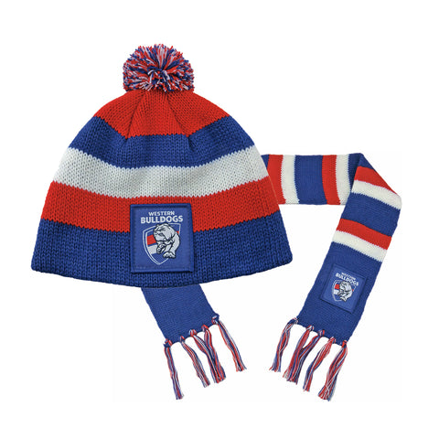 Western Bulldogs Baby Pack - Baby Scarf and Beanie