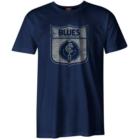 Carlton Blues Mens Adults Heritage Retro Tee