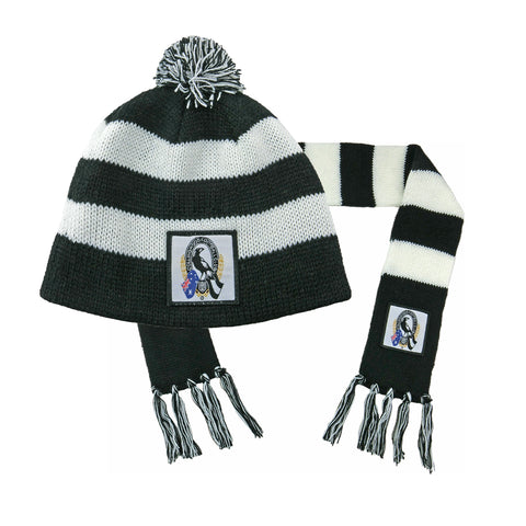 Collingwood Magpies Baby Pack - Baby Scarf and Beanie