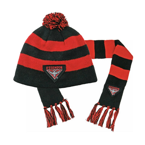 Essendon Bombers Baby Pack - Baby Scarf and Beanie