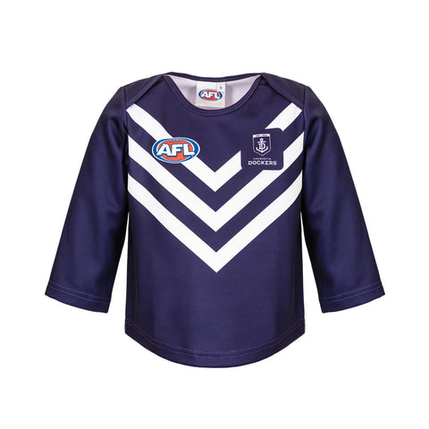 Fremantle Dockers Longsleeve Baby Toddlers Footy Jumper Guernsey