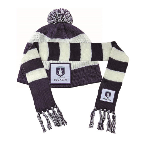 Fremantle Dockers Baby Pack - Baby Scarf and Beanie - Spectator Sports Online